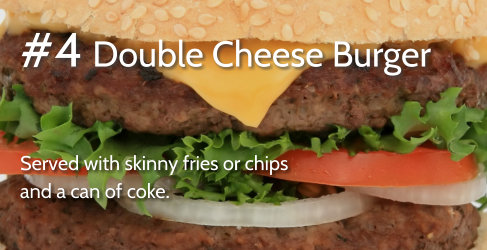 #4 Double Cheese Burger